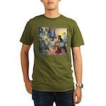 Christmas Tree Fairies Organic Men's T-Shirt (dark