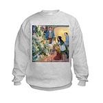 Christmas Tree Fairies Kids Sweatshirt