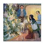 Christmas Tree Fairies Tile Coaster