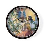 Christmas Tree Fairies Wall Clock