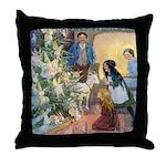 Christmas Tree Fairies Throw Pillow