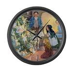 Christmas Tree Fairies Large Wall Clock