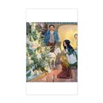 Christmas Tree Fairies Sticker (Rectangle)