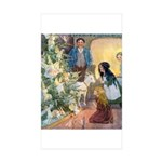Christmas Tree Fairies Sticker (Rectangle 50 pk)