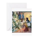 Christmas Tree Fairies Greeting Card