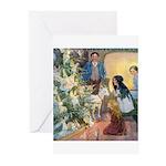Christmas Tree Fairies Greeting Cards (Pk of 20)