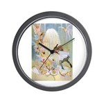 Dancing in the Fairy Fountain Wall Clock