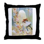 Dancing in the Fairy Fountain Throw Pillow