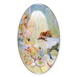 Dancing in the Fairy Fountain Sticker (Oval 10 pk)