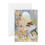 Dancing in the Fairy Fountain Greeting Cards (Pk o