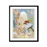 Dancing in the Fairy Fountain Framed Panel Print