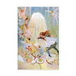 Dancing in the Fairy Fountain Mini Poster Print