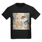 Dancing in the Fairy Fountain Kids Dark T-Shirt