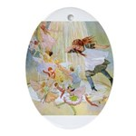 Dancing in the Fairy Fountain Ornament (Oval)