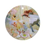 Dancing in the Fairy Fountain Ornament (Round)
