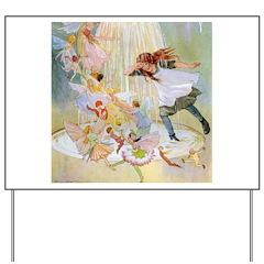 Dancing in the Fairy Fountain Yard Sign