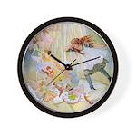 Dancing in the Fairy Fountain Wall Clock
