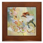 Dancing in the Fairy Fountain Framed Tile