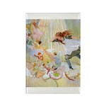 Dancing in the Fairy Fountain Rectangle Magnet (10
