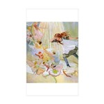 Dancing in the Fairy Fountain Sticker (Rectangle 5