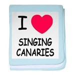 I heart singing canaries baby blanket