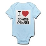 I heart singing canaries Infant Bodysuit