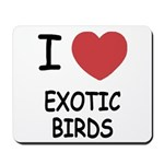 I heart exotic birds Mousepad