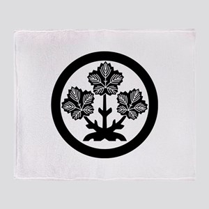 Suwa paper mulberry leaf Throw Blanket