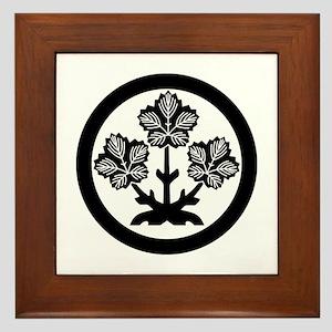 Suwa paper mulberry leaf Framed Tile