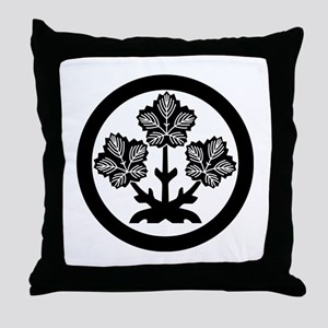 Suwa paper mulberry leaf Throw Pillow