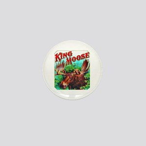 King Moose Cigar Label Mini Button