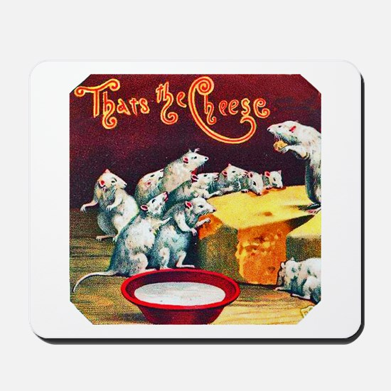 Mice & Cheese Cigar Label Mousepad