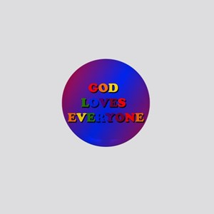 God Loves Everyone Mini Button