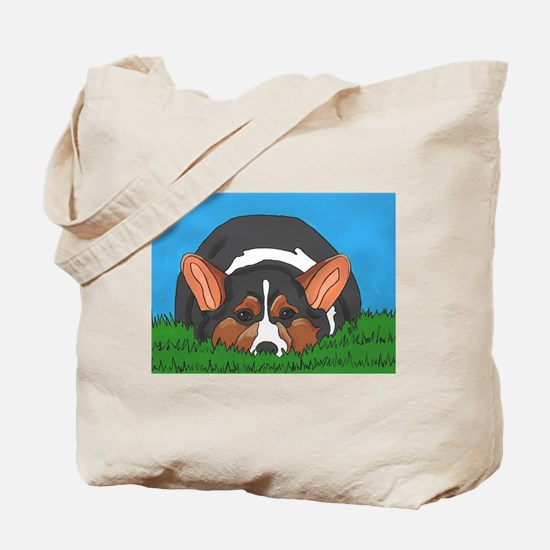 Tri Colored Corgi Tote Bag