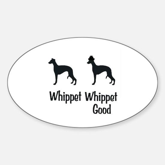 Whippet Good Sticker (Oval)