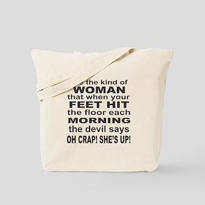 Oh Crap Devil Tote Bag