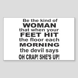 Oh Crap Devil Sticker (Rectangle)