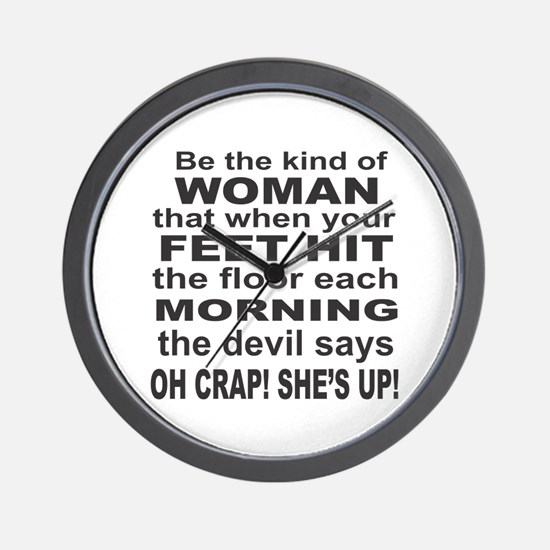 Oh Crap Devil Wall Clock