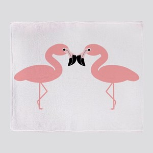 Flamingos Throw Blanket