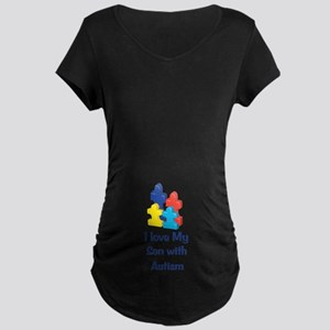Love Autism Son Maternity Dark T-Shirt