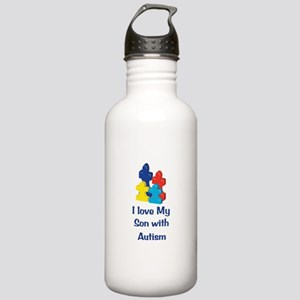 Love Autism Son Stainless Water Bottle 1.0L