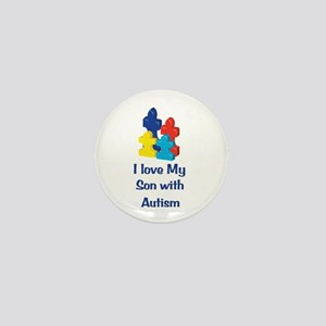Love Autism Son Mini Button