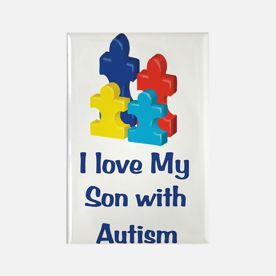 Love Autism Son Rectangle Magnet