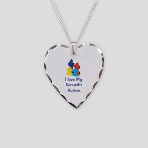 Love Autism Son Necklace Heart Charm