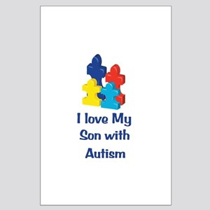 Love Autism Son Large Poster