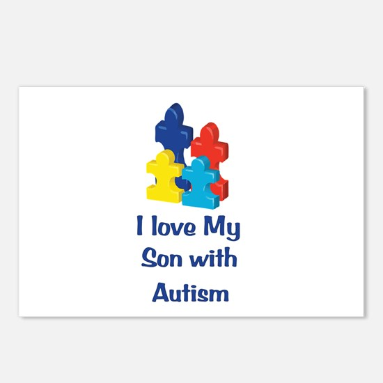 Love Autism Son Postcards (Package of 8)