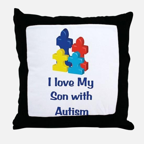Love Autism Son Throw Pillow