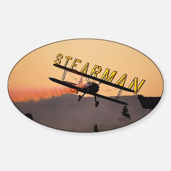 Stearman Sticker (Oval)
