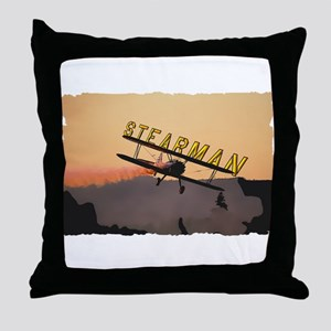 Stearman Throw Pillow