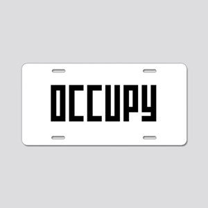 occupy rectangle Aluminum License Plate